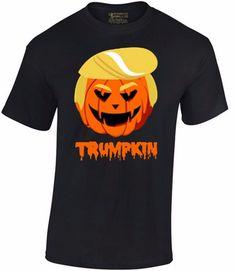 TRUMPKIN T-SHIRT Happy Halloween Funny Donald Trump Elections Political Shirt | eBay