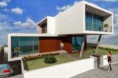 Fachadas de Casas Modernas - Telhado Oculto