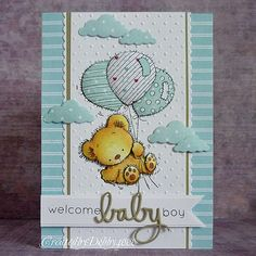 29 Ideas baby boy cards handmade diy embossing folder for 2019 Baby Boy Cards Handmade, New Baby Cards, Handmade Birthday Cards, Karten Diy, Baby Shower Cards, Card Kit, Kids Cards, Cute Cards, Scrapbook Cards