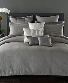 Donna Karan Home Moonscape Bedding Collection & Reviews - Bedding Collections - Bed & Bath - Macy's Donna Karan, Living Room Pillows, Bed Pillows, Bedroom Sets, Bedroom Decor, Glam Bedding, Contemporary Duvet Covers, Queen Quilt, Luxurious Bedrooms
