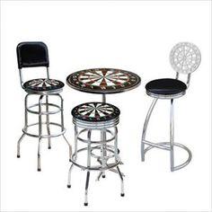 Dart Board Pub Table Set