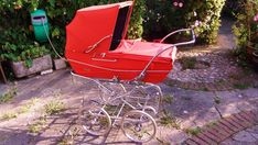 Vintage Red Pedigree Coachbuilt Pram with sunshade and shopping tray in Baby, Pushchairs & Prams, Pushchairs & Prams | eBay