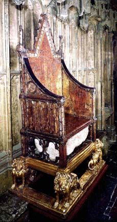 England, London, Westminster Abbey, The Coronation Chair ... |Westminster Abbey Throne