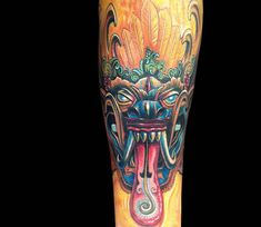 Feather Monster tattoo by Mike Devries