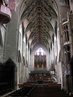 Berne cathédrale nef vers grand orgue - Collégiale Saint-Vincent de Berne — Wikipédia