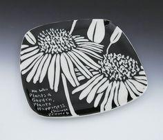 Sgraffito flowers