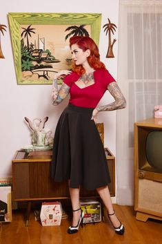 Cherry Dollface for Steady Clothing - 4 Retro Tops to Wear with a Circle Skirt