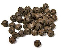6 mm rusty tin jingle bell 48 pcs; i've been looking for some vintage looking mini jingle bells to add to cards; these are perfect; they also come in silver.....perfect for adding glitter.