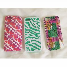 """3 iPhone Cases 3 iPhones cases for the price of one  3 different designs  Fit an iPhone 5 & 5s  *PRICE IS FIRM*  No asking for """"what's lowest""""?  Offers through the offer button ONLY  Claire's Accessories Phone Cases"""