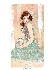2016 Diary - Mademoiselle Snow  #agenda #diary #2016 #santoro #santorolondon #willow #santorowillow