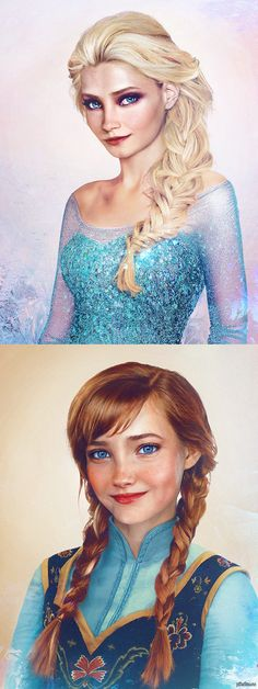 Disney pixar - how anna and elsa from frozen would look if they were real humans Walt Disney, Disney Magic, Disney Art, Disney Dream, Cute Disney, Disney Girls, Elsa Frozen, Disney Frozen, Real Frozen
