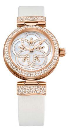 OMEGA LADIES WATCH LADYMATIC WITH DIAMONDS LUXURY FLOWER-2 http://luxuryvolt.com/2013/11/diamonds-galore-on-new-omega-ladies-watches/