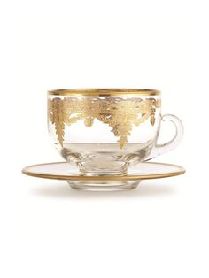 Glass and Gold teacup