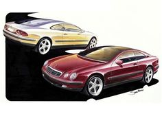 1993 Mercedes-Benz coupe Studie - forerunner to the CLK.