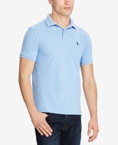 Polo Ralph Lauren Men's Custom Slim Fit Mesh Polo - Blue XXL
