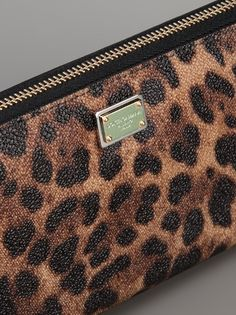 DOLCE & GABBANA - leopard print wallet 4