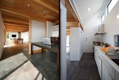 Concrete floors: perfect for my future super modern home in a sunny climate.