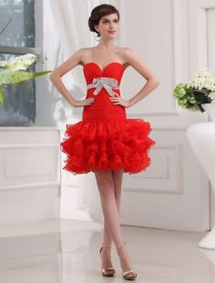 By Rachel Morland Ball Gown Sweetheart Sleeveless Short/Mini Organza Homecoming Dress/Short Prom Dresses #BUKZA2054 - See more at: http://www.anniedress.com/prom-dresses.html?color=237#sthash.2CCS5VTI.dpuf