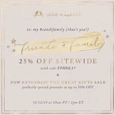 Friends & Family Sale: 25% off sitewide now through 12/19/17. #candi #style #fashion Follow on Facebook https://m.facebook.com/Lodis.candi/?ref=bookmarks