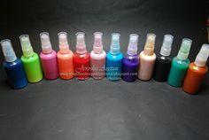 Glimmer Mist Recipe - White glue, metallic acrylic paint & water.