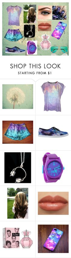 """dream on dreamer"" by evolover ❤ liked on Polyvore featuring WALL, Wildfox, Vans, ZM925, Neff and Ray-Ban"