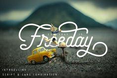 Freeday Script & Sans Font by aktab studio on @creativemarket
