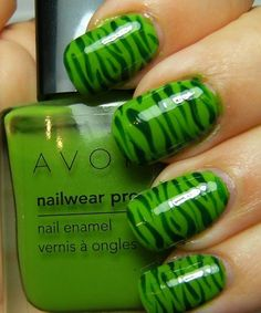 here is a fun ( and quick ) zebra mani. Not as well executed as my last two zebra nail looks, this was a rush job♥ I really wanted to get t. Zebra Nail Designs, Crazy Nail Designs, Toe Designs, French Nail Designs, Nails Design, Zebra Stripe Nails, Zebra Print Nails, Avon Nail Polish, Avon Nails