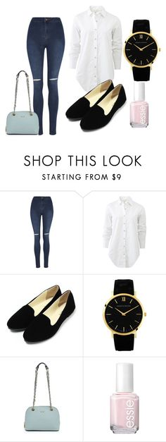"""""""Untitled #230"""" by daniellass on Polyvore featuring George, rag & bone, Larsson & Jennings, DKNY, Essie, women's clothing, women, female, woman and misses"""