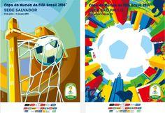 Doze sedes da Copa do Mundo lançam cartazes do evento.