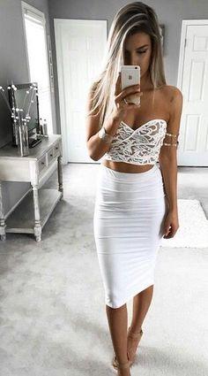 white always looks so fresh over a good tan