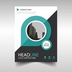 Plantilla de cover de un informe anual creativo verde  Vector Gratis
