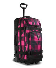 This Pink Block Vine Wheeled Duffel by JWorld is perfect! #zulilyfinds