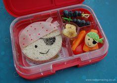 Eats Amazing UK - Pirate Sandwich bento school lunch for International Talk Like a Pirate Day #kids #funfood