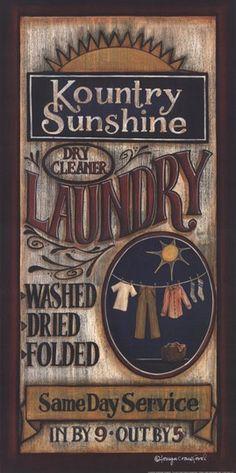 Laundry Art Print