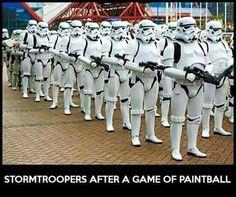 Stormtrooper humor, paintball