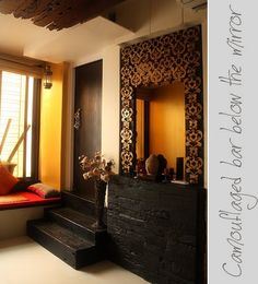 Use of warm colours in entrance lobby is too welcoming.