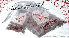 #Julklappstips! Kvalitetstamponger i fina tygåsen! Från 10-pack upp till 100-pack och i tre tampongstorlekar.  Klicka hem tampongerna här: http://www.tampongshopen.se/tamponger/tampong-i-tygpase/