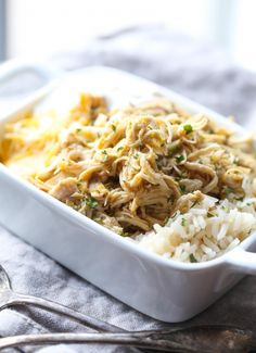 MADE -- Pretty good -- easy to make Salsa Verde Chicken over rice!