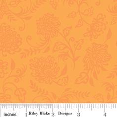 Floral in Orange; fabric design #design