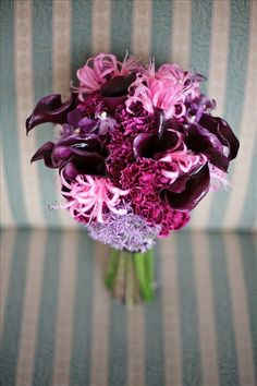 Pretty pink and purple bouquet