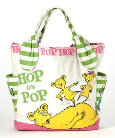 Look at this Dr. Seuss 'Hop on Pop' Tote on #zulily today!