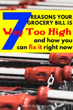 7 Reasons Your Grocery Bill is Way Too High and How You Can Fix It Right Now - set your grocery budget once & for all with these helpful money saving tips for grocery shopping!   #money #budget
