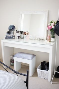 My dressing table is the pride and joy of my room. Granted, it's not where I spend most of my time (that would be my bed!), but it's the part that makes me the happiest as I just love seeing all the beautiful products I own together and all neatly organised. It's the little things in life! Whe
