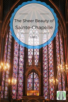 Sainte-Chapelle is the most impressive church I have ever seen. That's a pretty big call. I know. But WOW! It is a jaw-dropping, gothic gem that is truly spectacular. There are 3 amazing things about the Saint-Chapelle. Read post to find out :) #paris