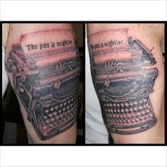 """The pen is mightier"" 