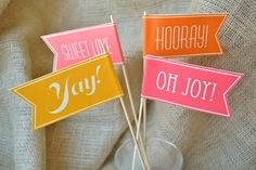 50 Colored Custom Celebratory Paper Flags by liddabits on Etsy