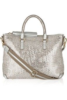 ANYA HINDMARCH Mini Huxley woven leather tote