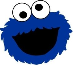 Cookie Monster Face Cut Out