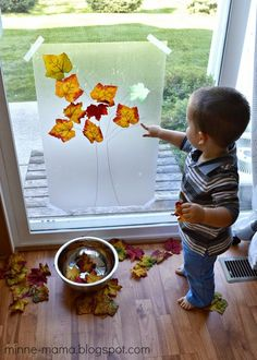 Fall Tree Contact Paper Play - Fall Crafts For Kids Fall Crafts For Toddlers, Easy Fall Crafts, Autumn Activities For Kids, Diy Crafts To Do, Fall Preschool, Tree Crafts, Toddler Crafts, Kids Crafts, Summer Crafts