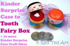 Save those Kindersurprise Capsules for these ADORABLE Tooth Fairy Boxes (plus browse the other FABULOUS ideas shared here!!)